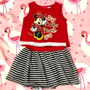 Toddler girl Minnie Mouse two piece set - size 3T